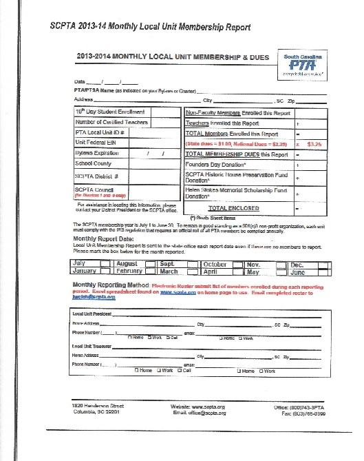membership form template