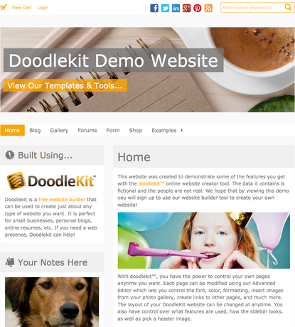 Doodlekit Demo Website