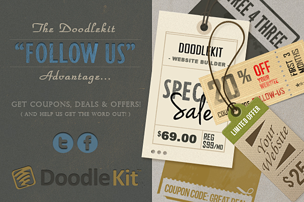 Follow Doodlekit For Coupons, Deals And Special Offers!