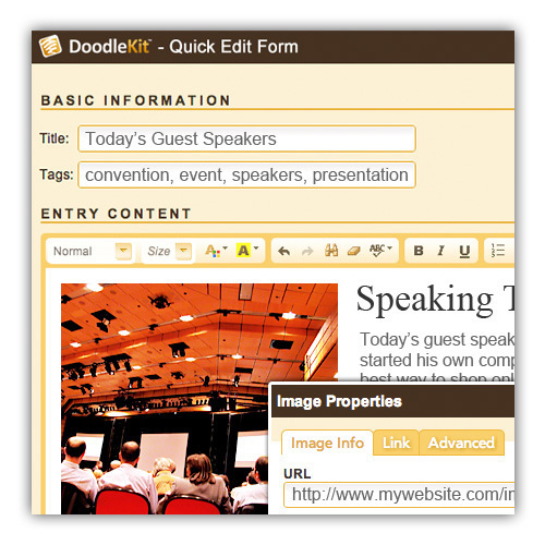 conference website design