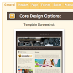Template Design Tools: General - Core Design Options
