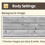 Template Design Tools: General - Body Settings