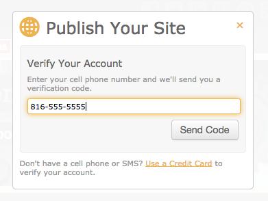 New SMS Site Verification - Doodlekit