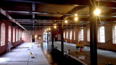Interior of the Silk Mill during restoration 2013