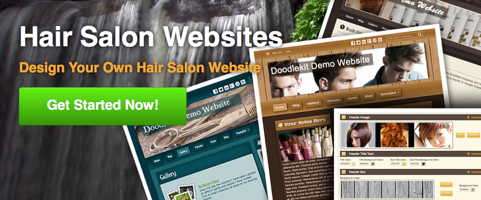 salon website templates