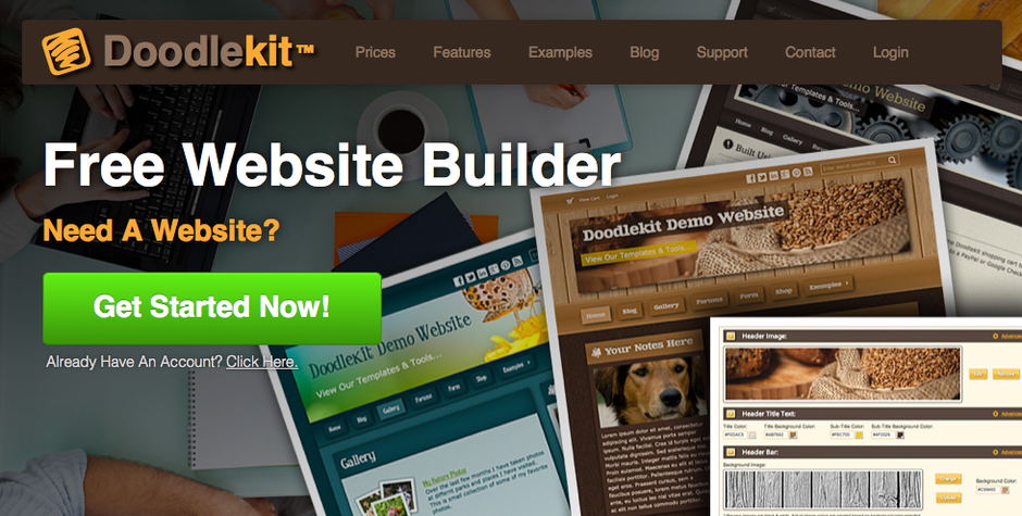 Doodlekit Free Website Builder