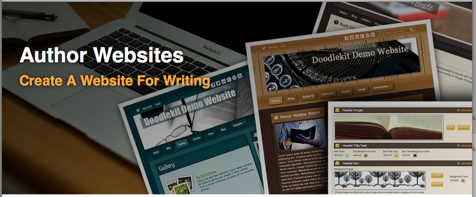 Website Builder For Authors And Writers