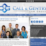 Latest Custom Website Design: Call & Gentry Law Group
