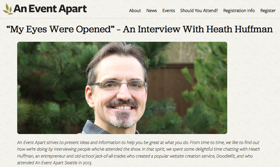 An Event Apart Interviews Heath Huffman