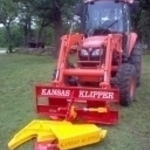 Kubota tractor with Klipper