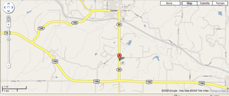 Map to Beeson Mfg.