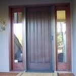 Roll-Away Retractable Screen Door - in use