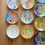 Ceramic painting plates