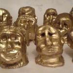 Golden pottery heads.JPG