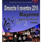 Concert le 6 novembre 2016