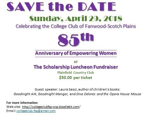 Save the Date - April 29 2018 85th anniv and schol luncheon