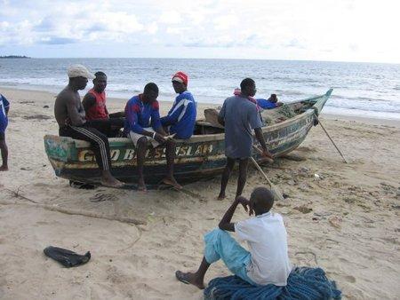 Fishermen at Lumley Beach