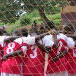 team huddle at the soccer gala