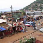 aeriel view of Freetown