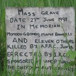 mass grave from civil war