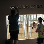 the team painting the rooms in prep