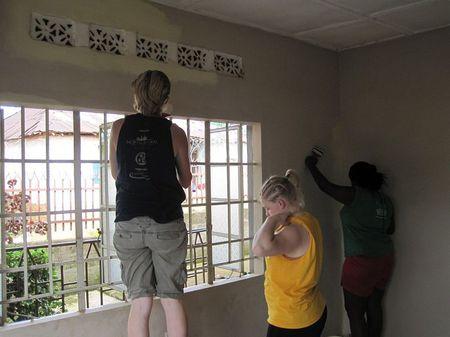 preparing the rooms