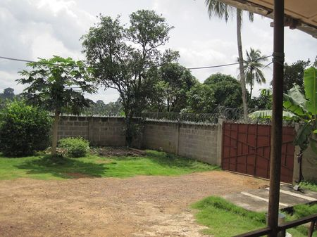 the children's home yard and gate
