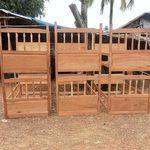 bunk beds being prepared