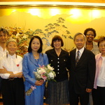 Consul General Okamura and Mrs. Okamura with Heiwa family