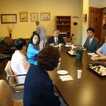 Consul General Okamura and Mrs. Okamura with Heiwa Residents