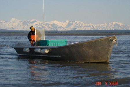 Fishing in a Homemade Skiff