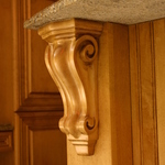 Corbel Traditional in Maple