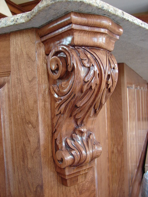 Corbel Acanthus in Cherry