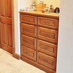Rift Cut Red Oak Raised Panel Dresser