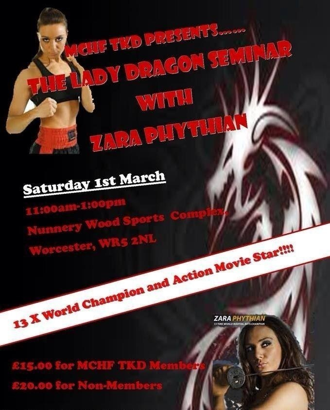 Miss Zara Phythian (Lady Dragon) Seminar 2014