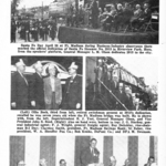 Santa Fe Railway Magazine article on dedication of 2913 to city.