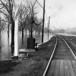 6th Street Santa Fe crossing looking west. January 10, 1946