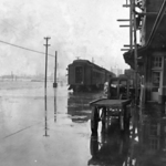 California Ltd stopped in ice jam flood January 10, 1946