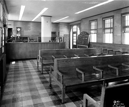 Santa Fe depot waiting room