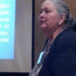2013 Patty Whitney giving presentation at EPA's E.J. Conference