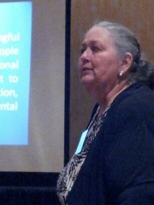 2013 Patty Whitney giving presentation at EPA's E.J. Conference