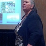 Patty Whitney giving presentation on EJ