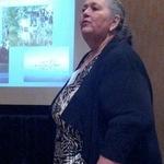 Patty Whitney giving presentation on EJ