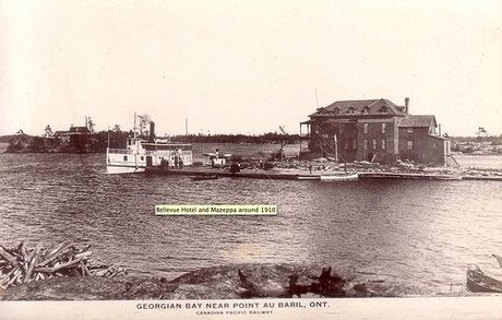 Bellevue Hotel and the Mazeppa - around 1910