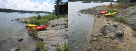 Waterlevels 2011 and 2012