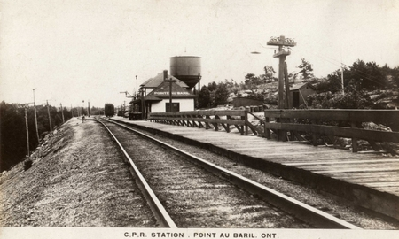 C.P.R.  Station . Point au Baril