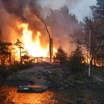 May 13 - Huge Fire oldest cabin Underwood Island