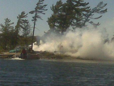 Razed the old log cabin on Charley's Isle
