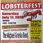 Lobsterfest scheduled for July 17 - 2010