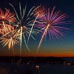 Canada Day Fireworks over Parry Sound Harbor